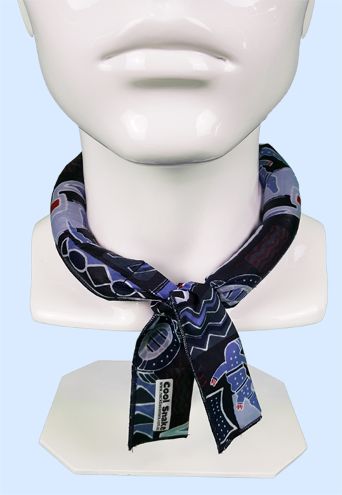 Neck Tie Cooler - Indi Blue