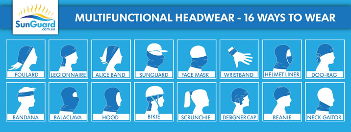 Multifunctional Headwear - 16 ways to wear...